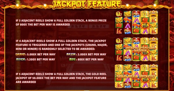 Jackport Feature เกมส์ Fortune Festival