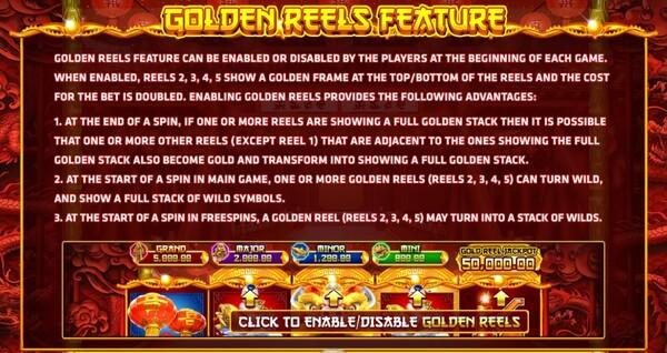 Golden Reels Feature เกมส์ Fortune Festival