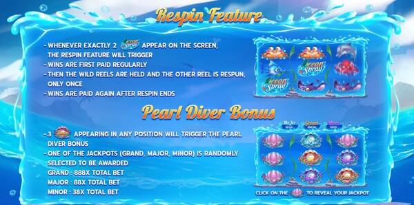Ocean Spary โบนัสเกม