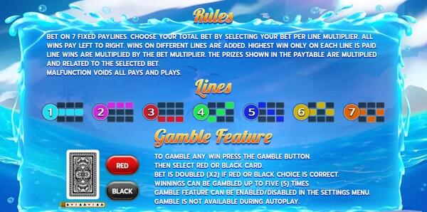 Ocean Spary ไลน์ชนะของเกม