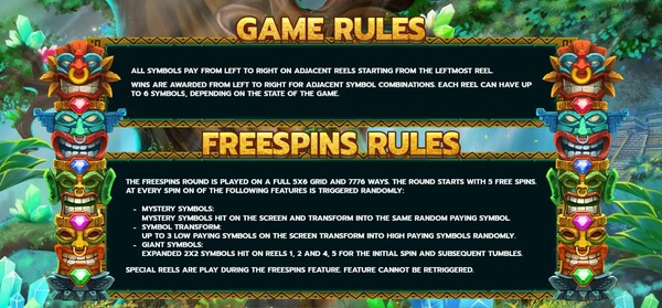 รีวิวการได้ Game Rules และ FREESPINS FEATURE Aztec Temple