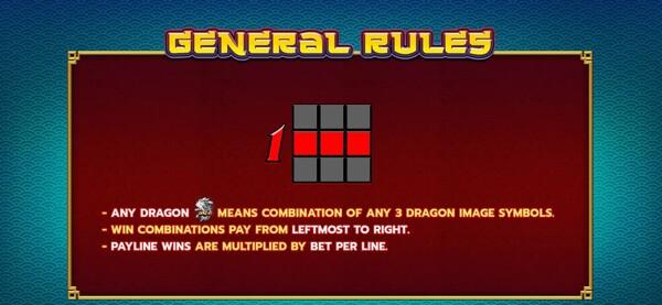 แนวแถวการชนะของเกมส์ Dragon's Realm