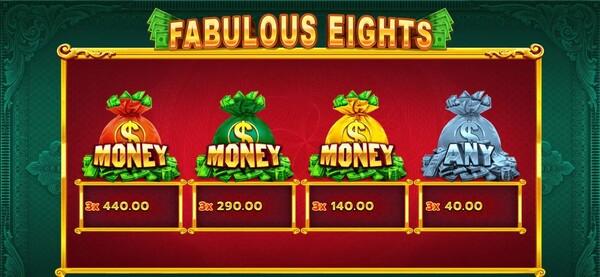 รีวิวโบนัสของเกมส์ Fabulous Eights