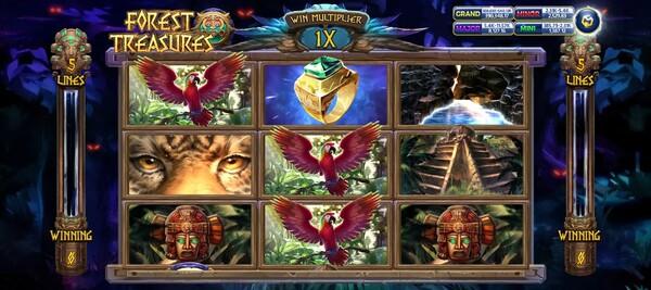 รูปแบบของเกมส์ Forest Treasure