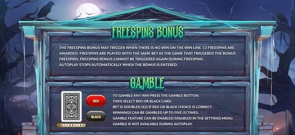 การได้โบนัส FREESPINS BONUS และ  GAMBLE