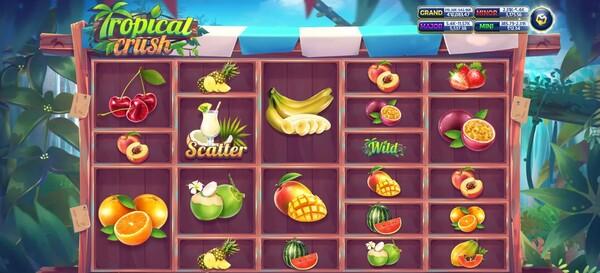 รีวิวรูปแบบของตัวเกม Tropical Crush