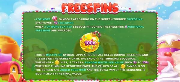 รีวิวการได้ FREESPINS Winter Sweets