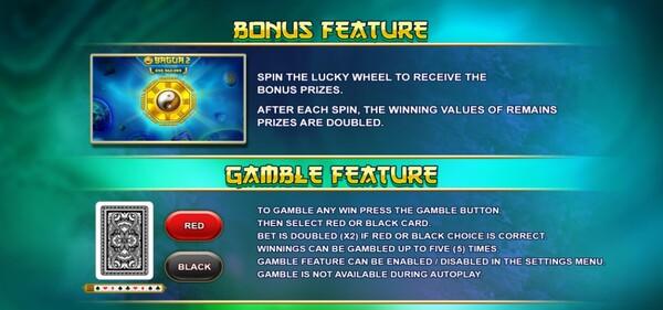 รีวิวของ BONUS FEATURE AND GAMBLE FEATURE